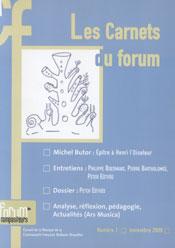 Les Carnets du Forum nr. 1